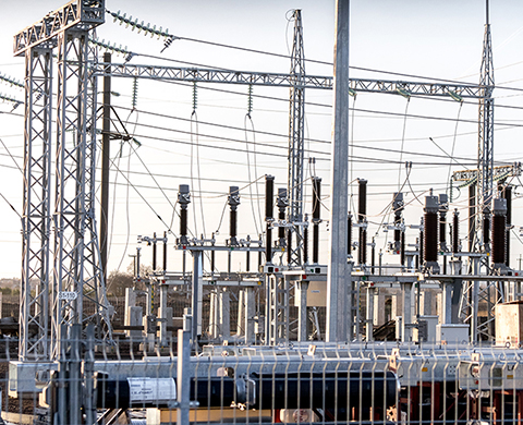 Installation. Transformer substations, power lines and industrial automation